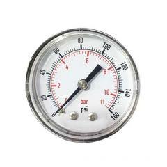 Water Pressure Gauge with Tee Fitting